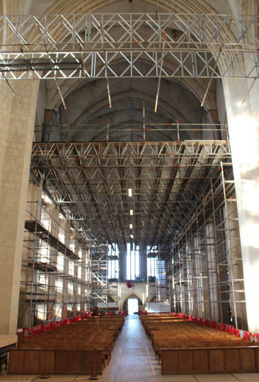 Scaffolding in the Nave