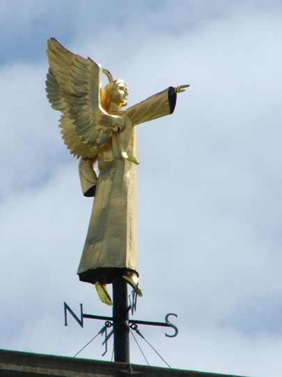 Photograph of the Angel atop the Cathedral Tower